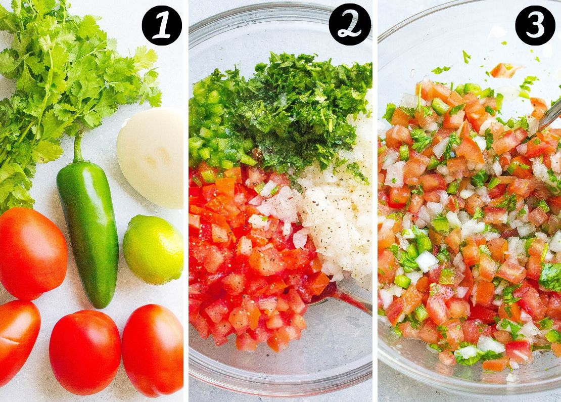Homemade Pico De Gallo steps