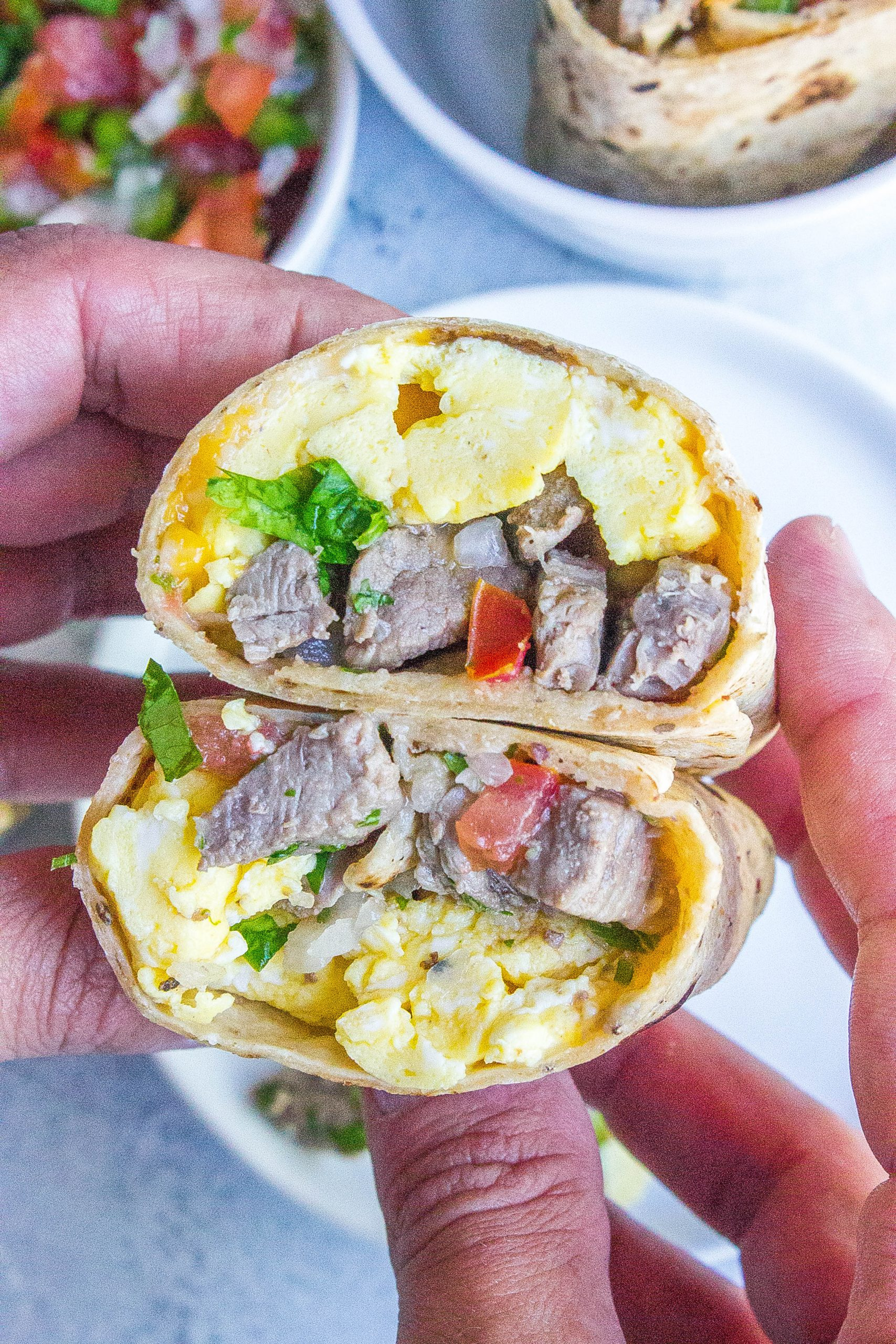 Steak and Egg Breakfast Burritos