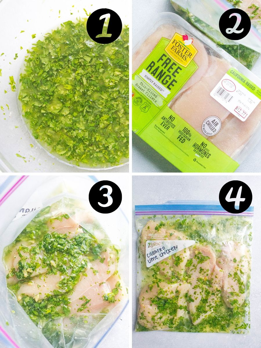 Cilantro Lime Chicken with Avocado Salsa steps