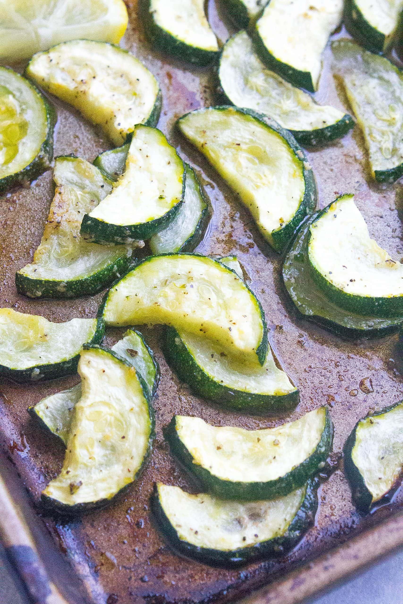 sheet pan zucchini