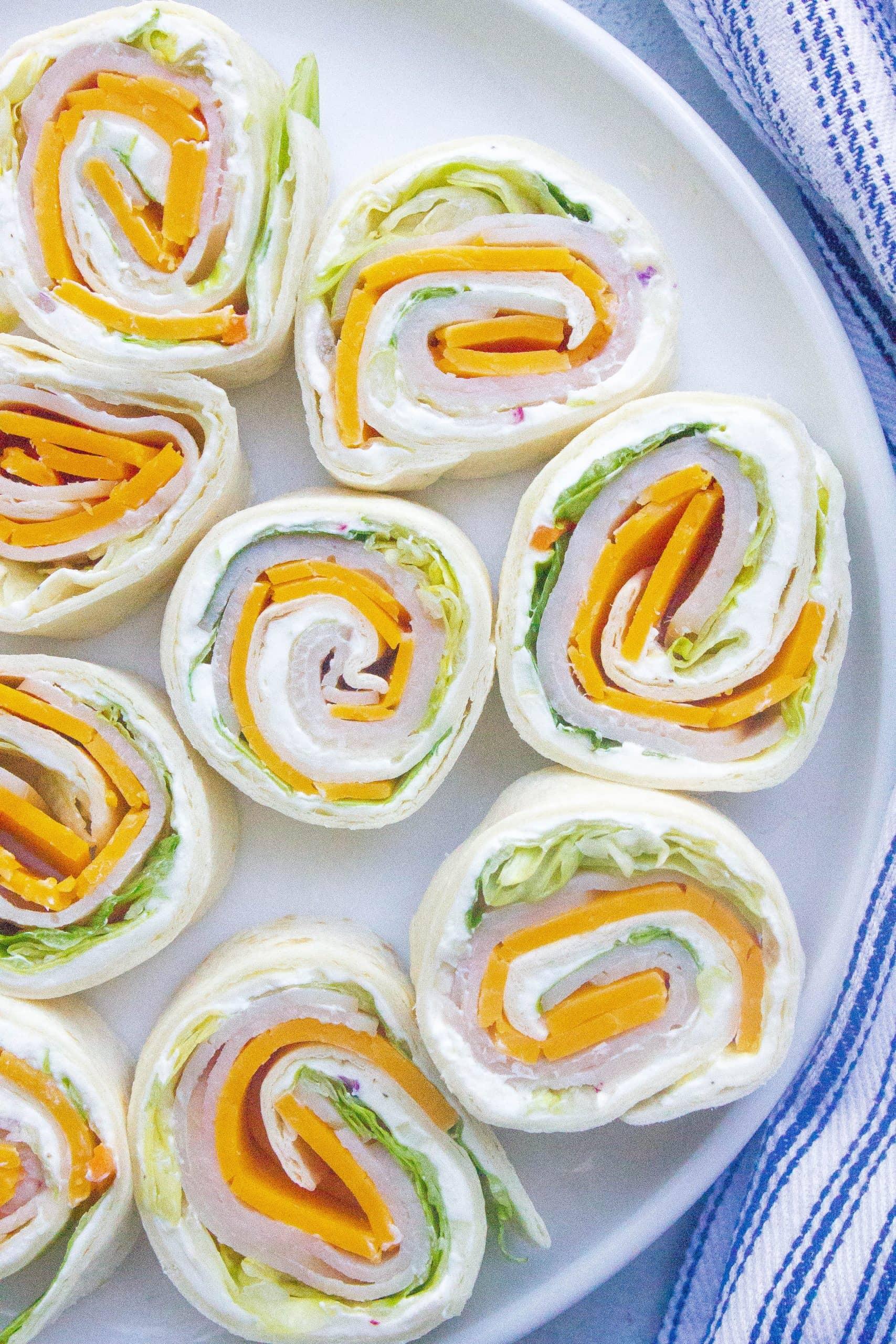 Turkey Cheddar Lunch Roll Ups