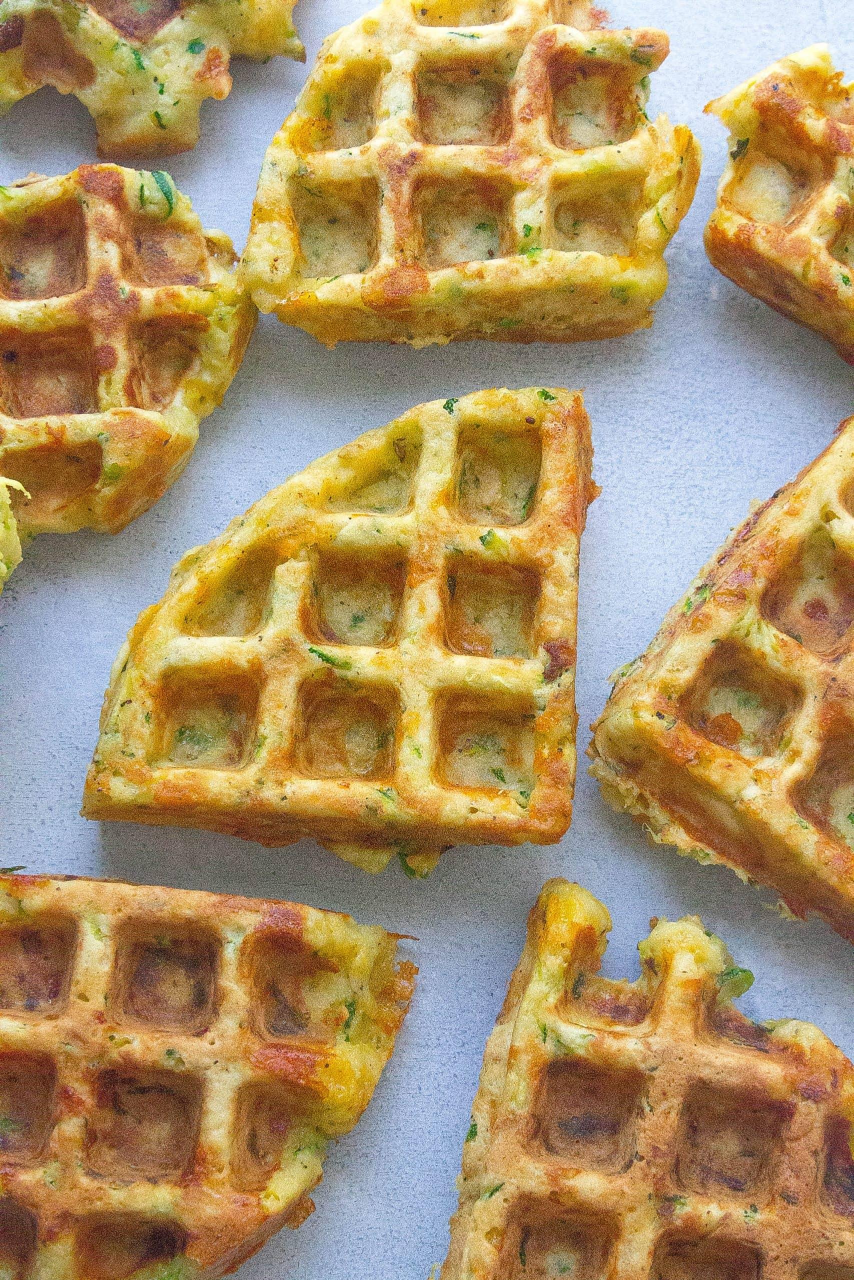Zucchini Cheddar Waffles