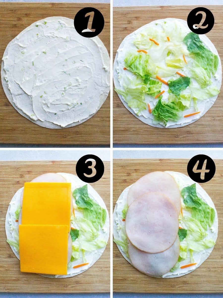 Turkey Cheddar Lunch Roll Ups steps