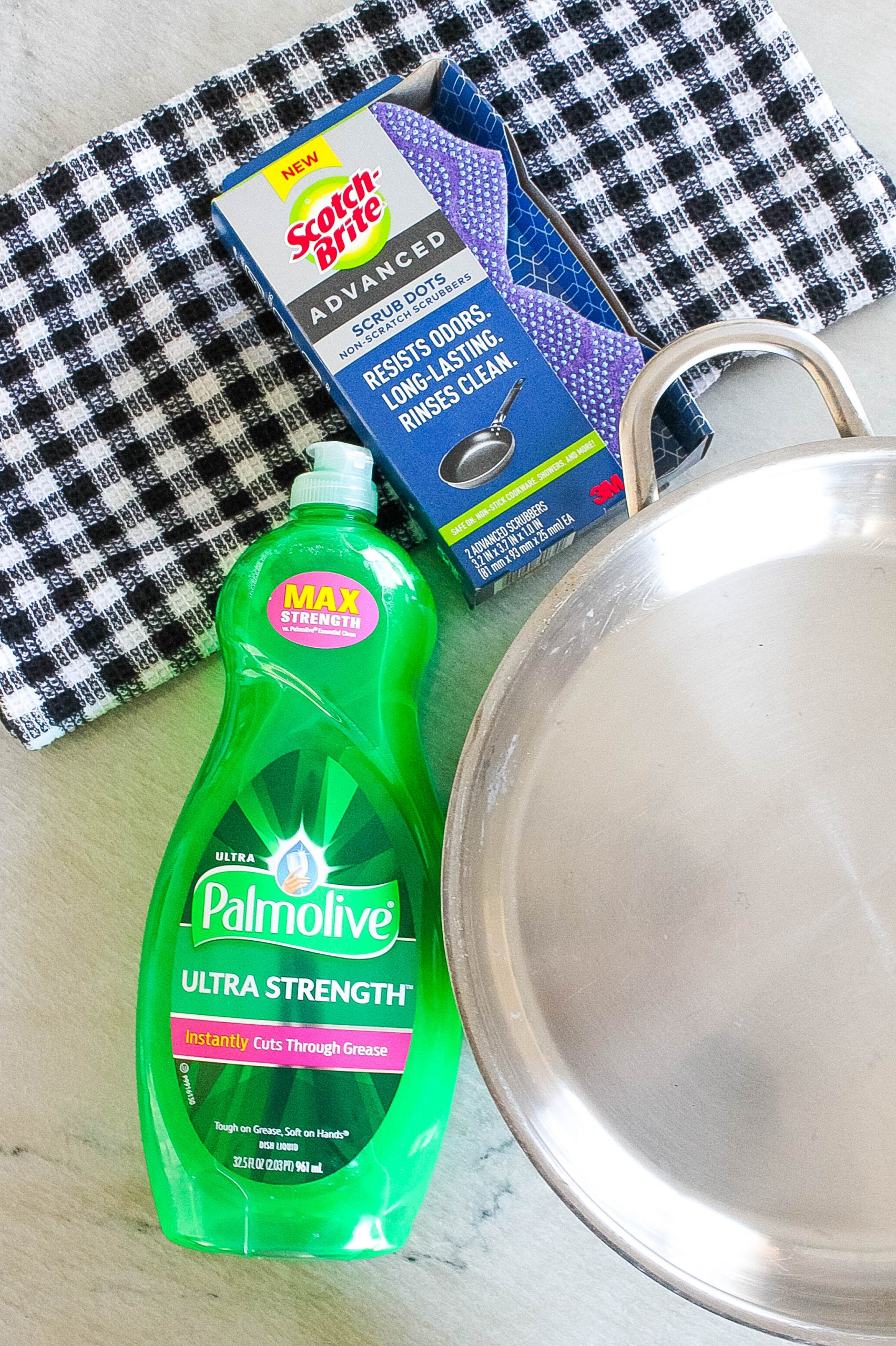 Palmolive and Scotch-Brite