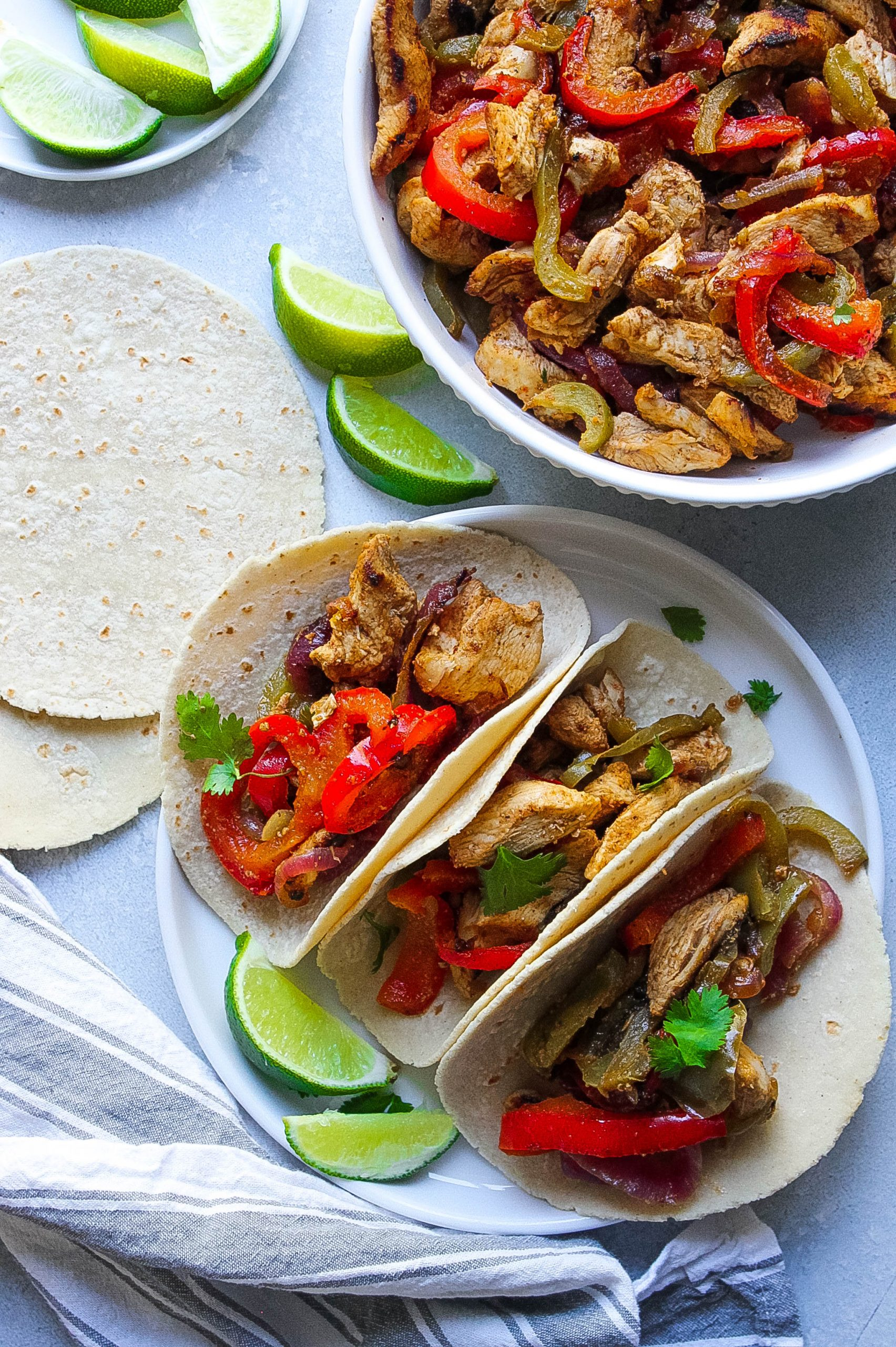Easy Cleanup Chicken Fajitas