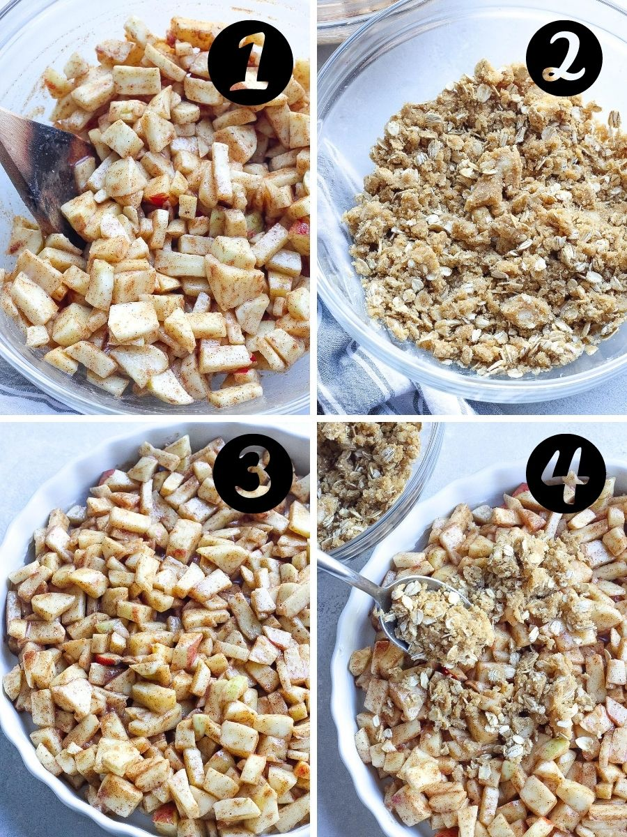 steps to make apple crisp