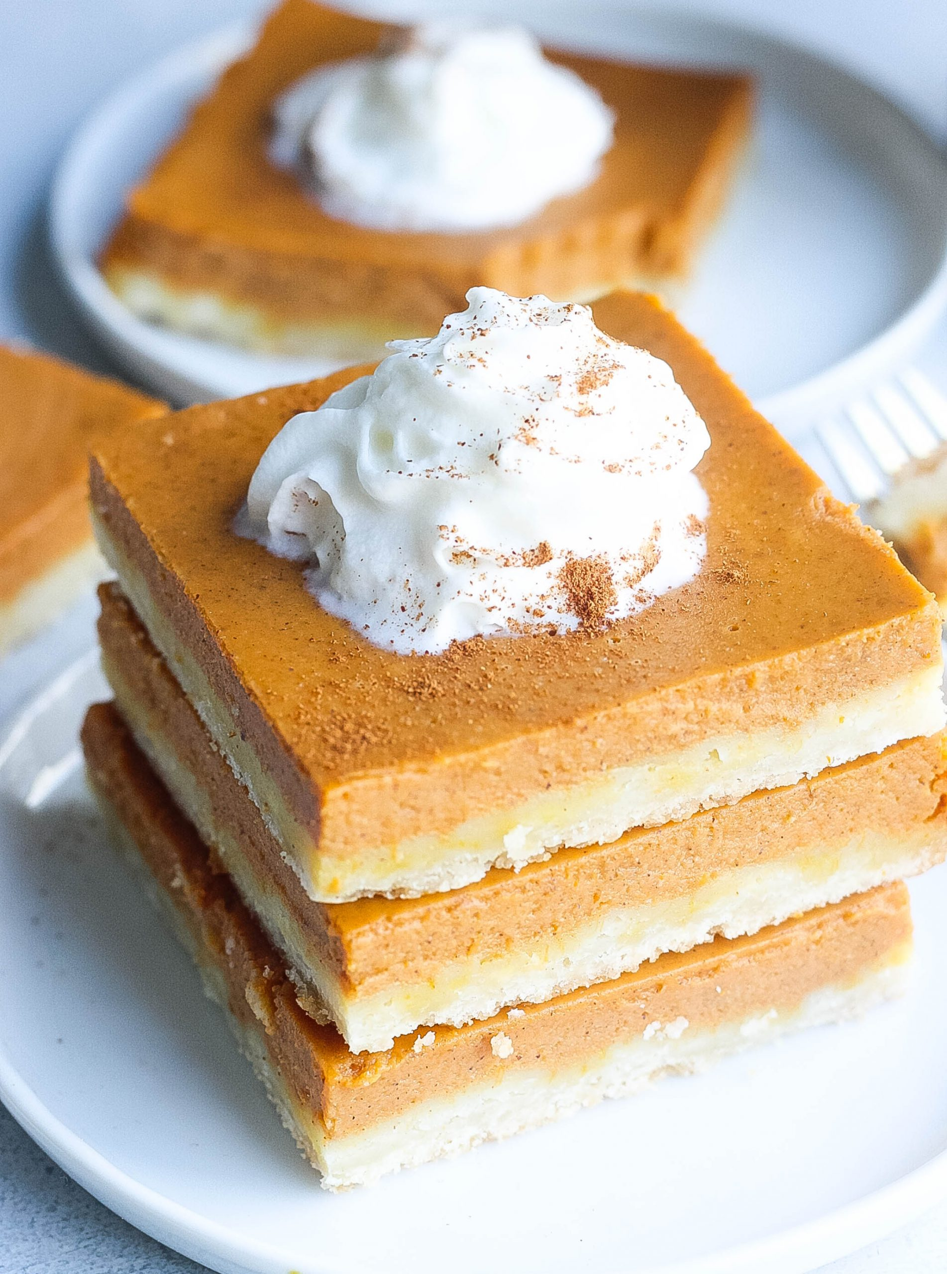Pumpkin Pie Bars (Made with a Shortbread Crust)