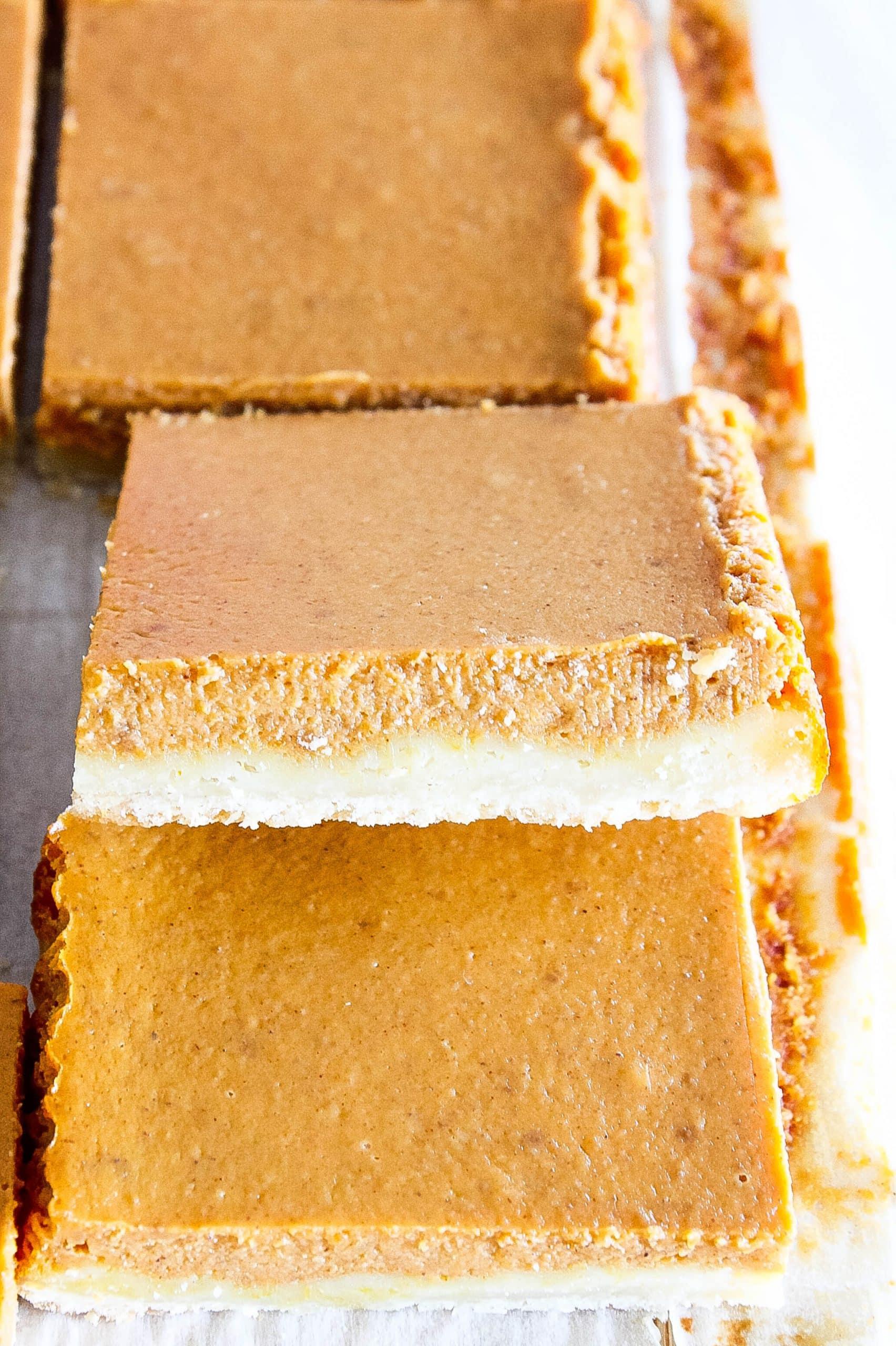 Pumpkin Pie Bars (Made with a Shortbread Crust)