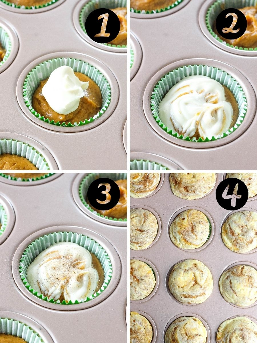 pumpkin muffin steps