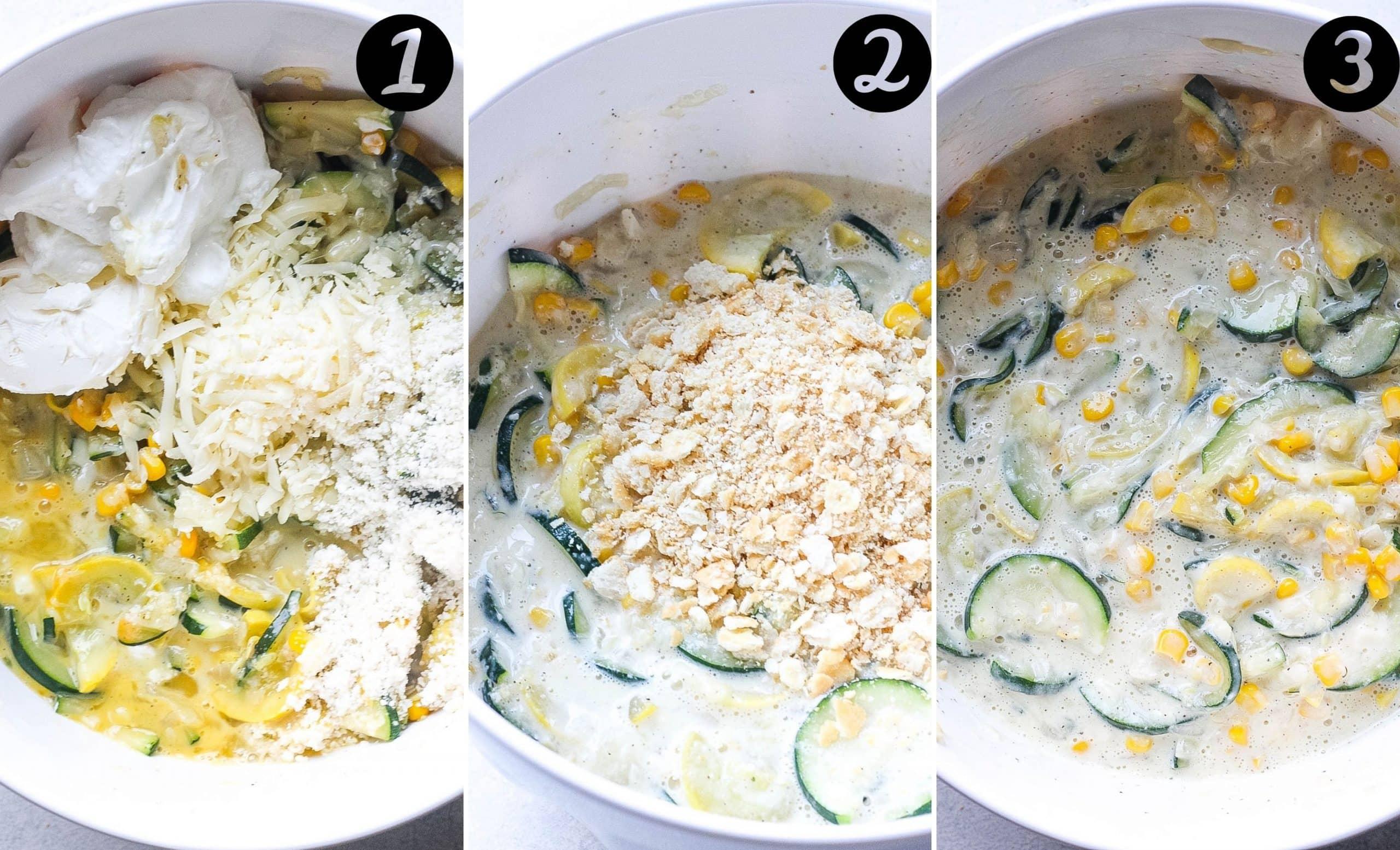 zucchini casserole bake steps