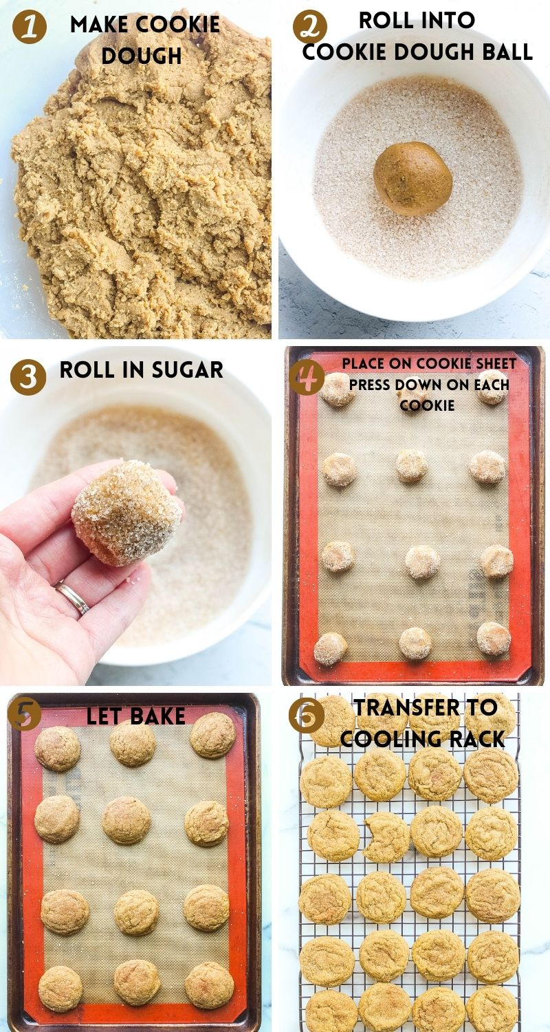 Chewy Ginger Molasses Cookies steps