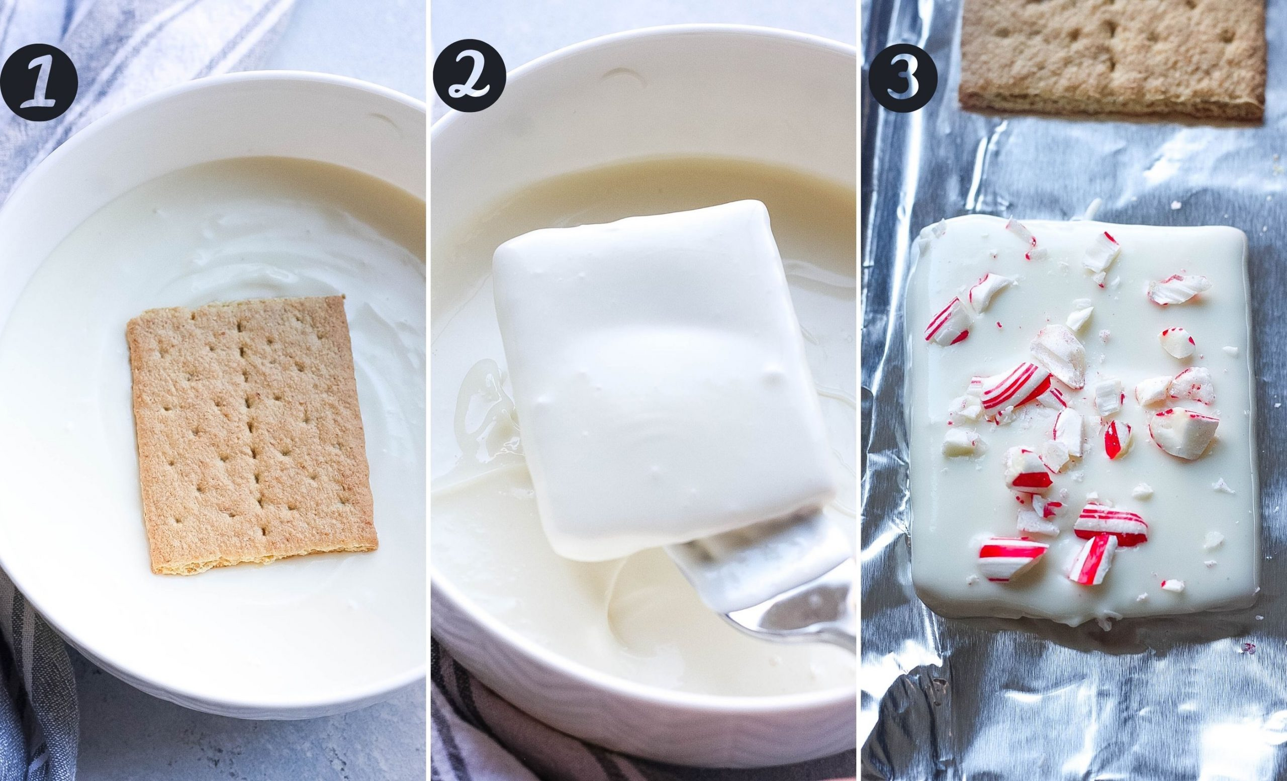 Chocolate Peppermint Graham Crackers steps