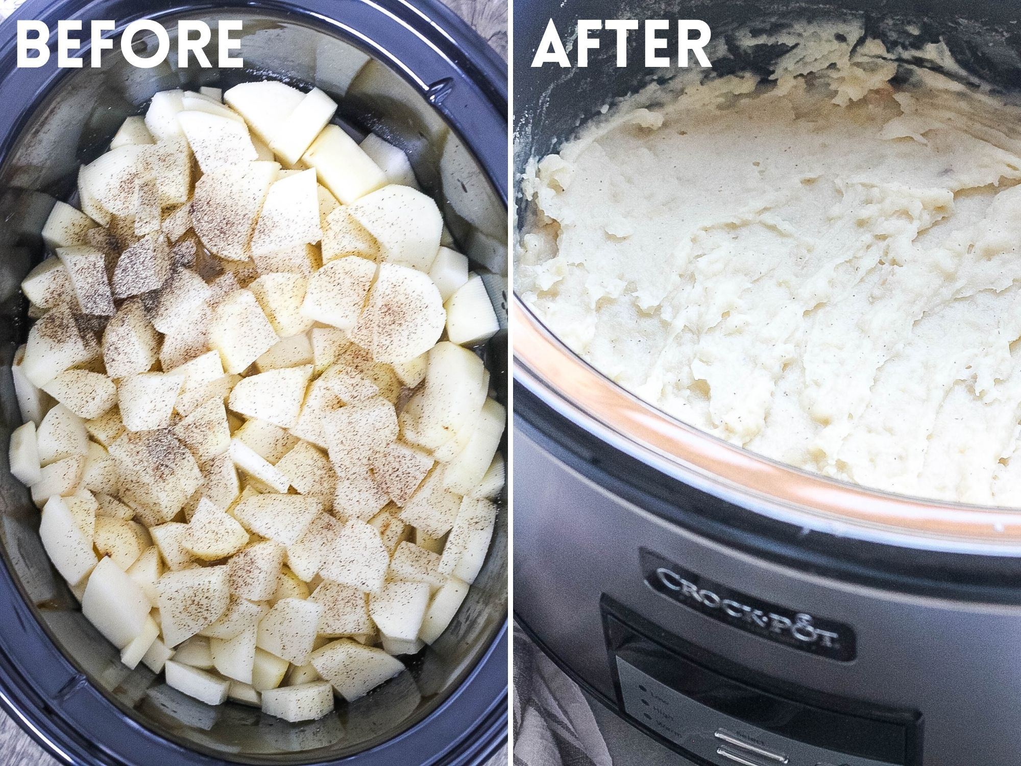 mashed potatoes made in the crock pot