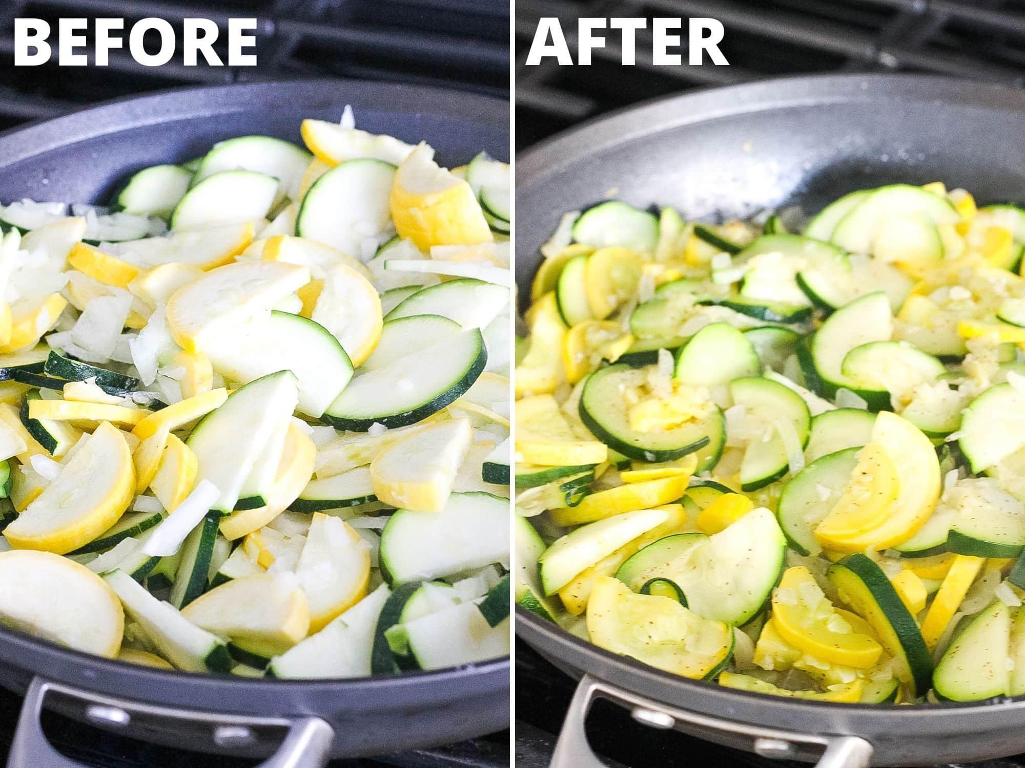 sautéing squash and zucchini