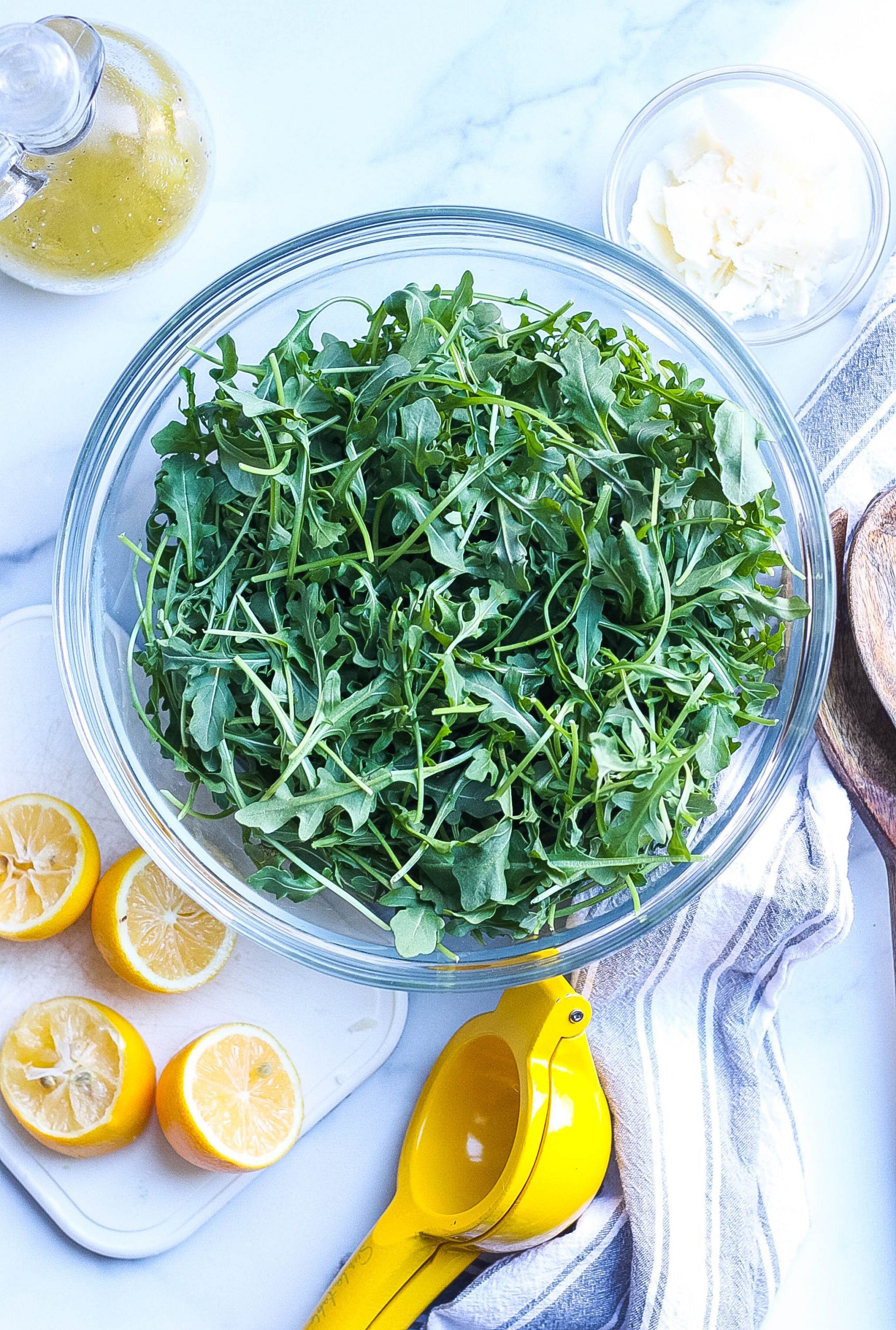 Arugula Parmesan Salad ingredients