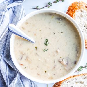 Cream of Mushroom Soup (Healthy Version)