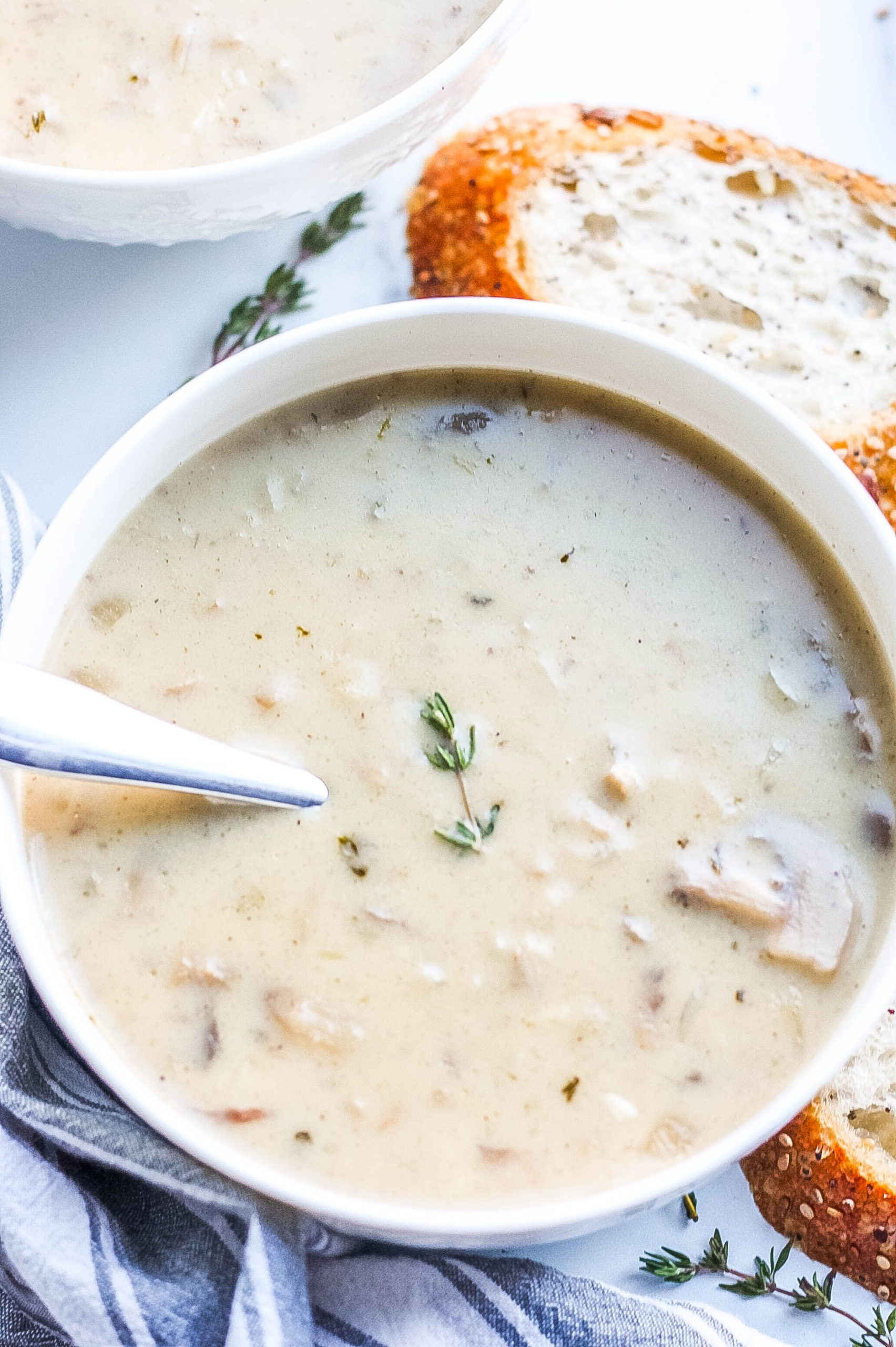 Cream of Mushroom Soup (Healthy Version)