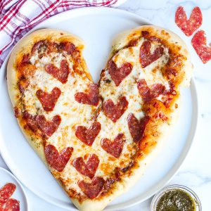 Heart Shaped Pizza (Perfect for Valentine's Day)