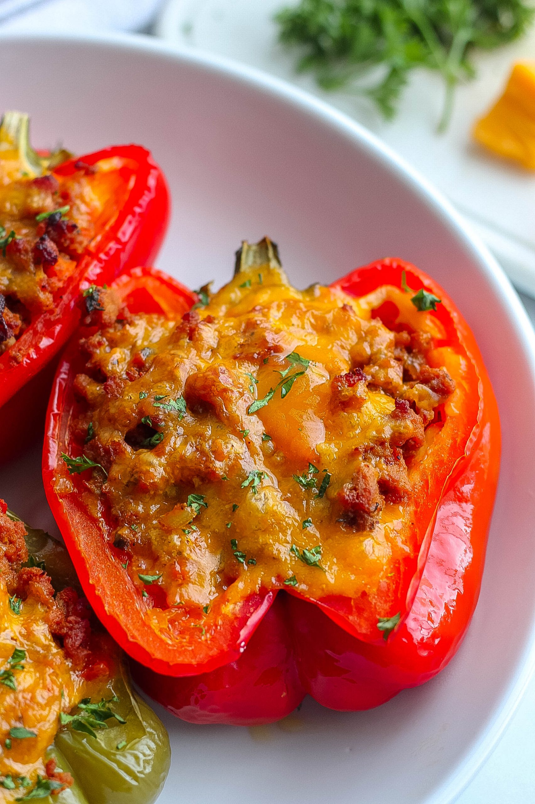 peppers stuffed with turkey sloppy joes