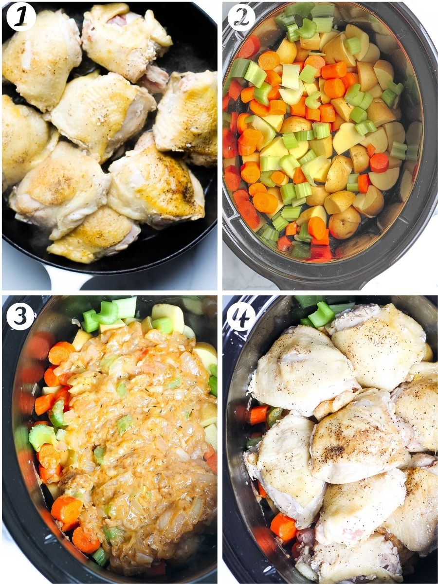 Slow Cooker Chicken and Potatoes steps
