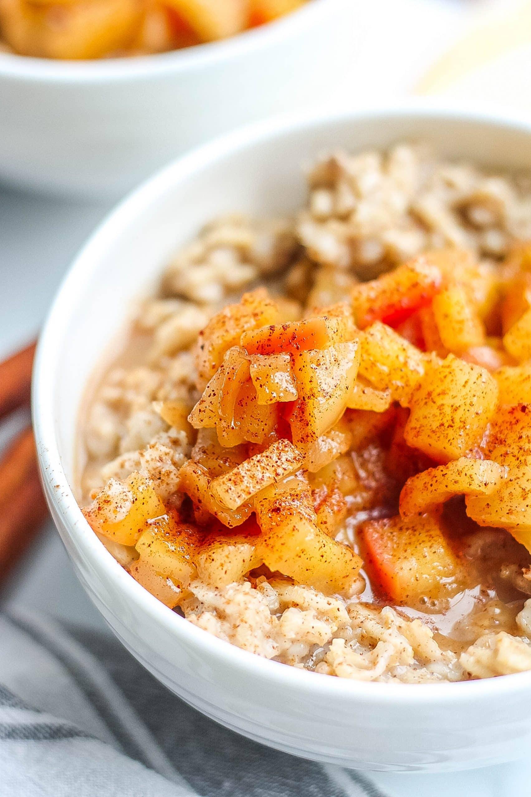 Cinnamon Apples and Oatmeal
