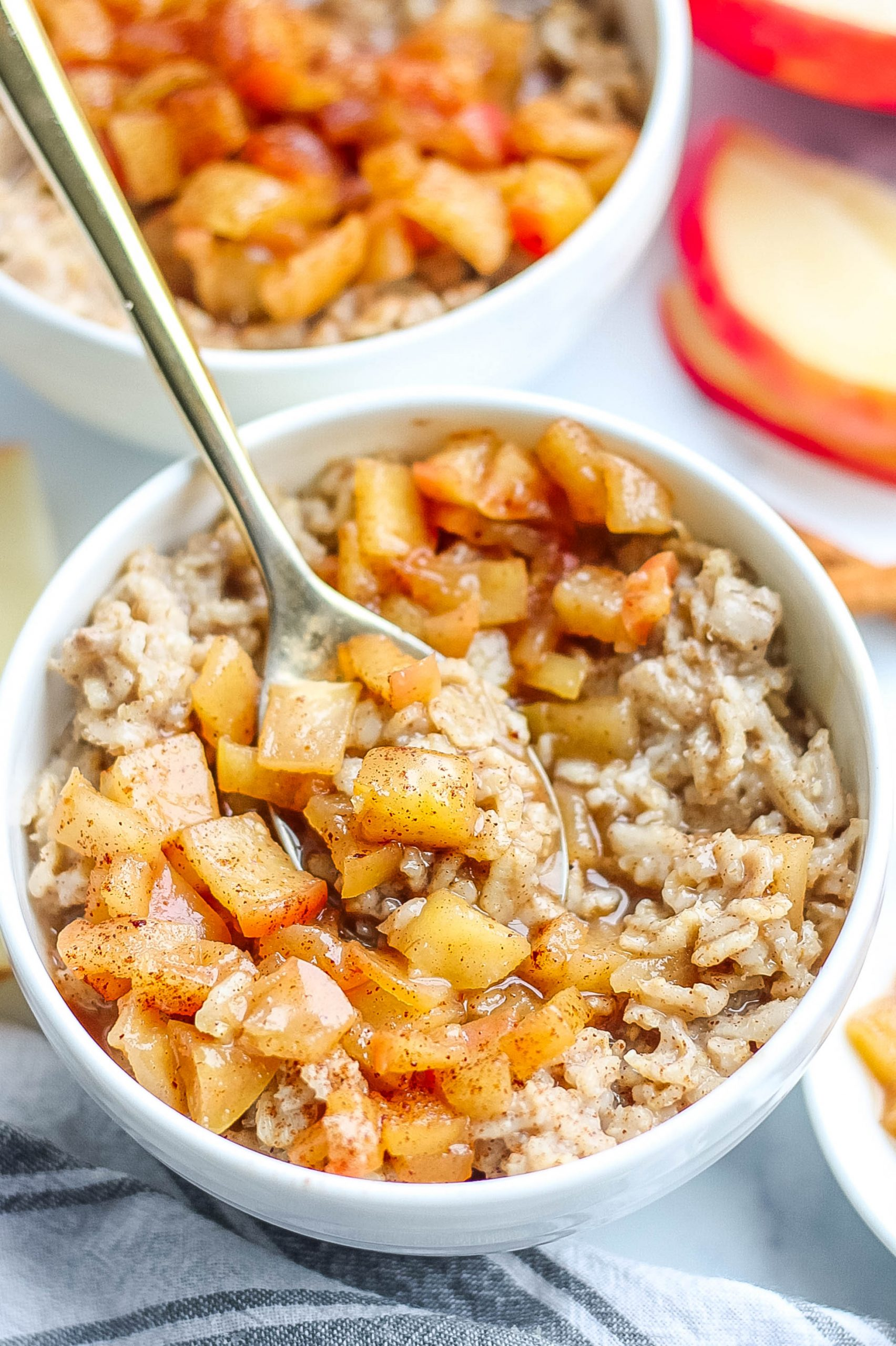 spoon with oatmeal
