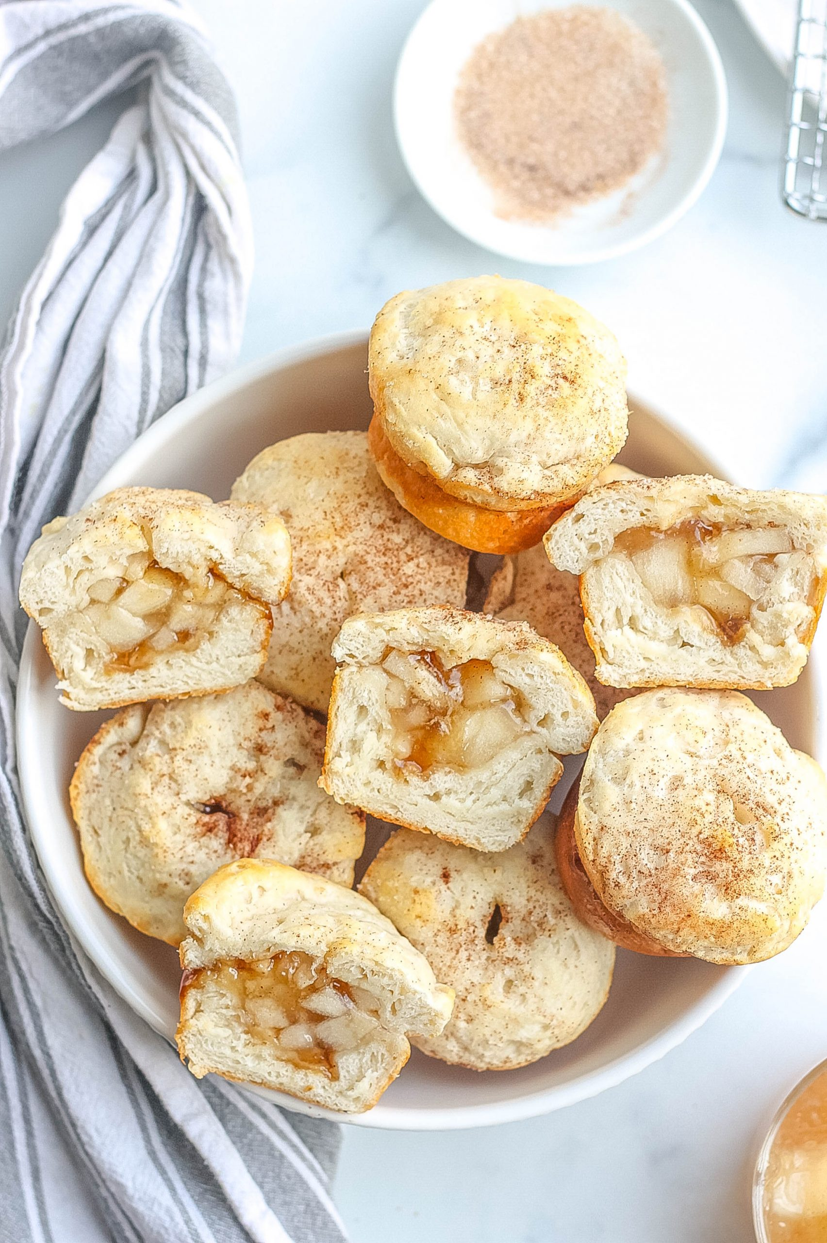apple dumplings in bowl
