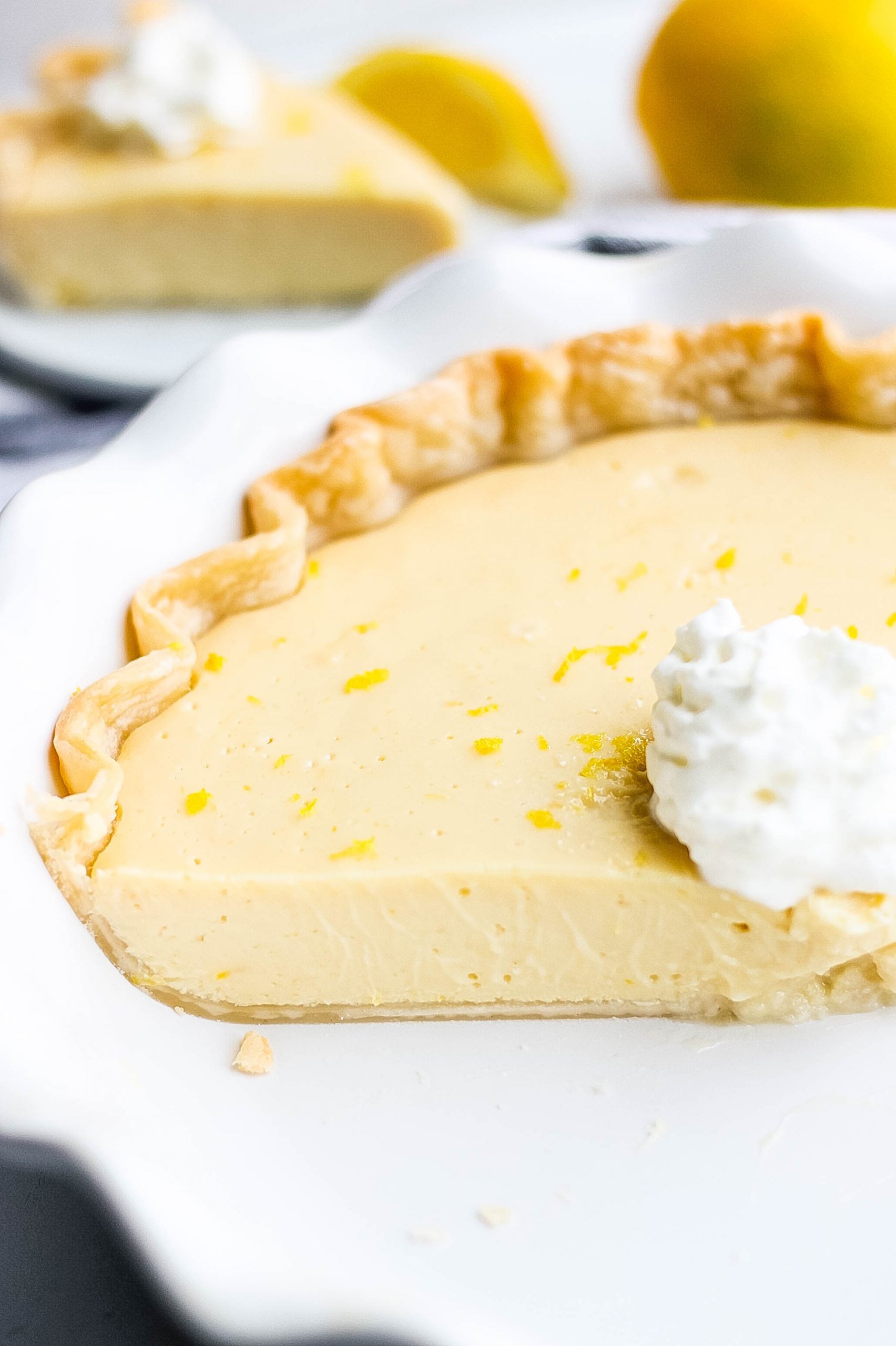simple lemon pie with store bought crust