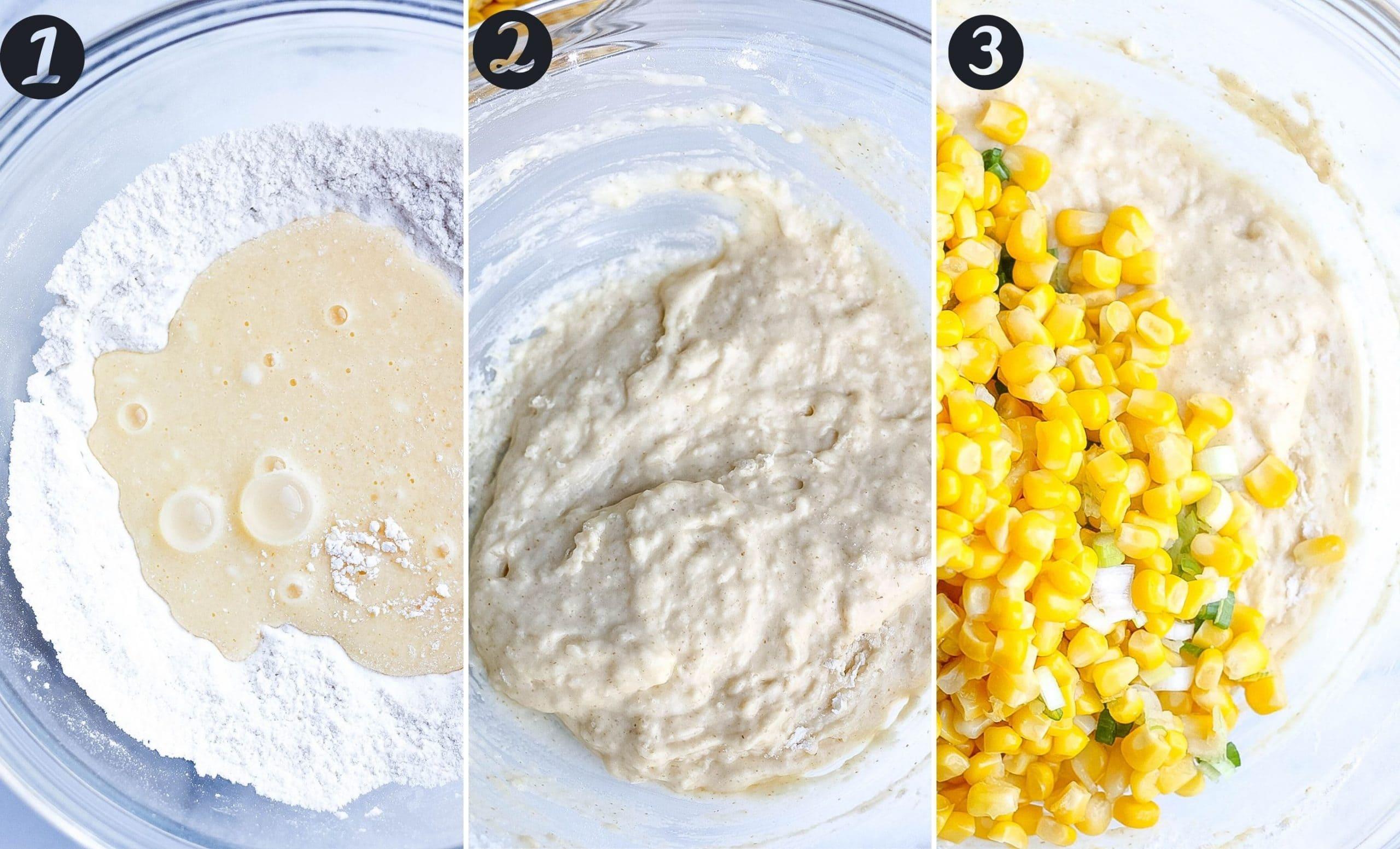 Corn Fritter steps
