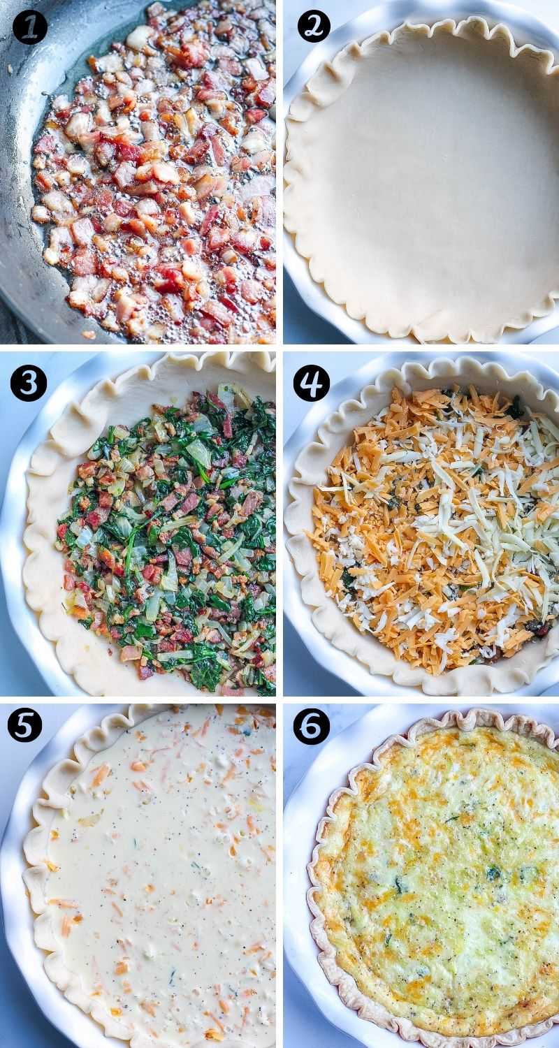 steps to prepare easy quiche