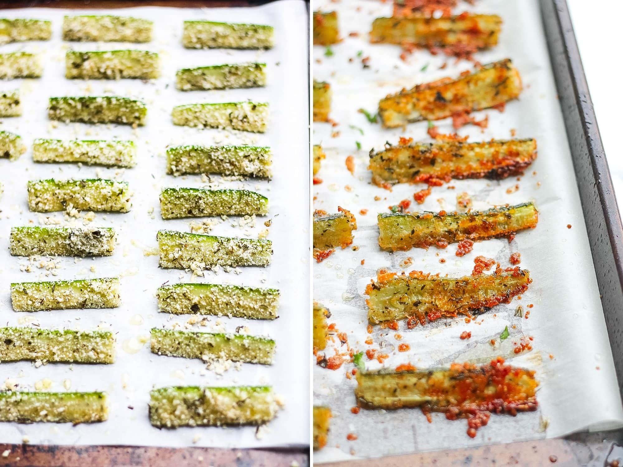 oven baked gluten free keto zucchini
