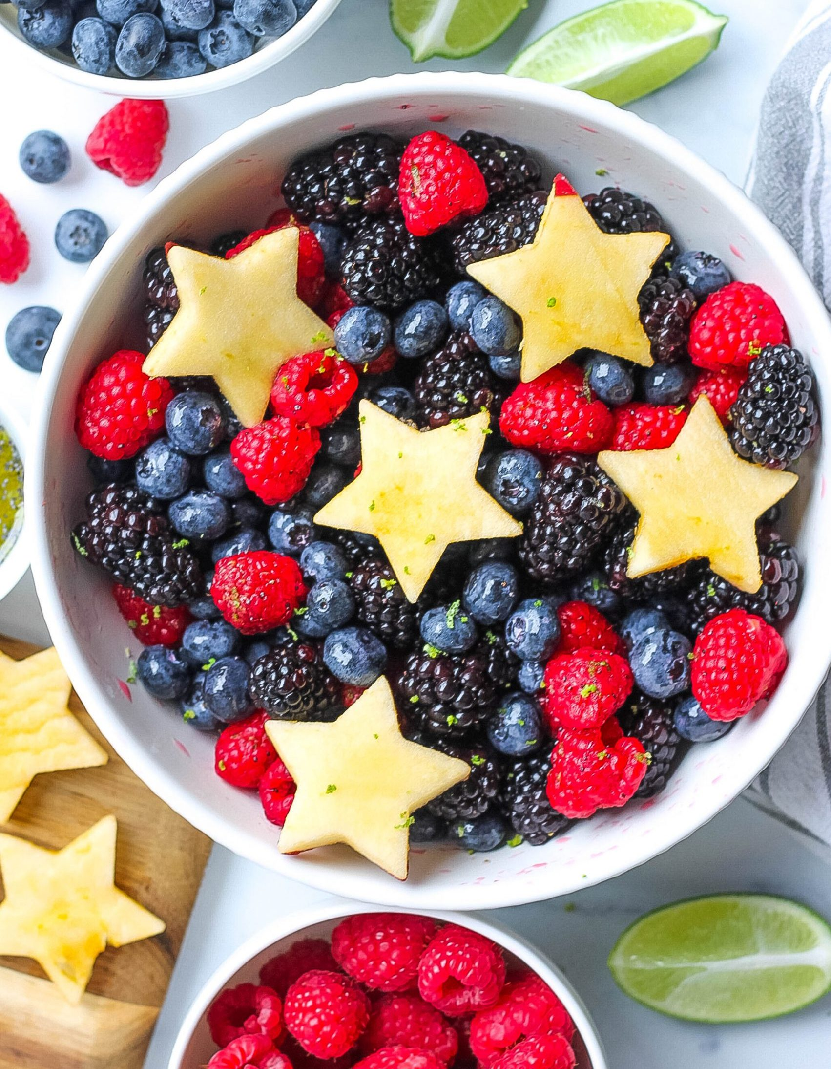 Fresh fruit salad with berries