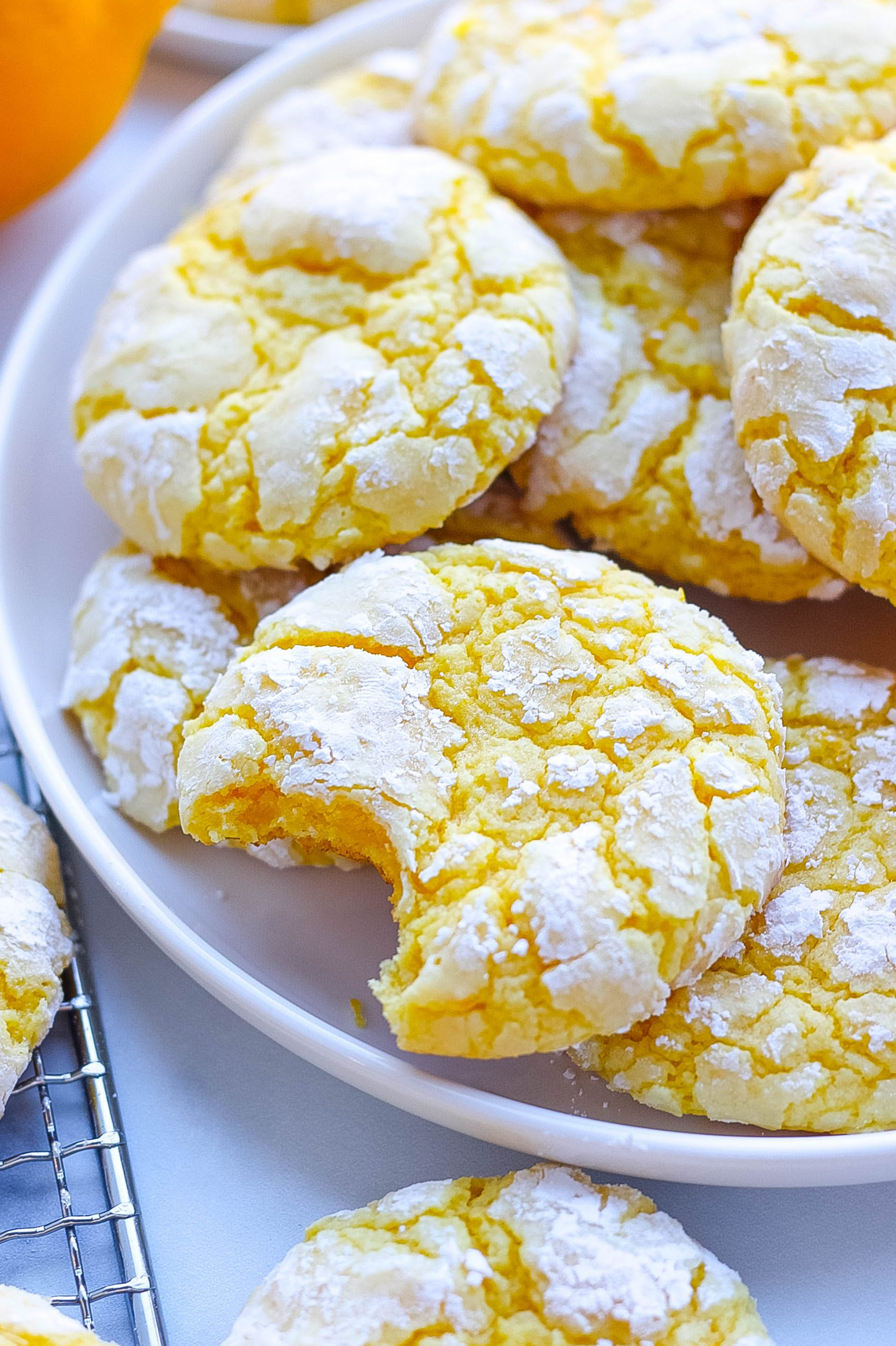 Lemon cookies on plate