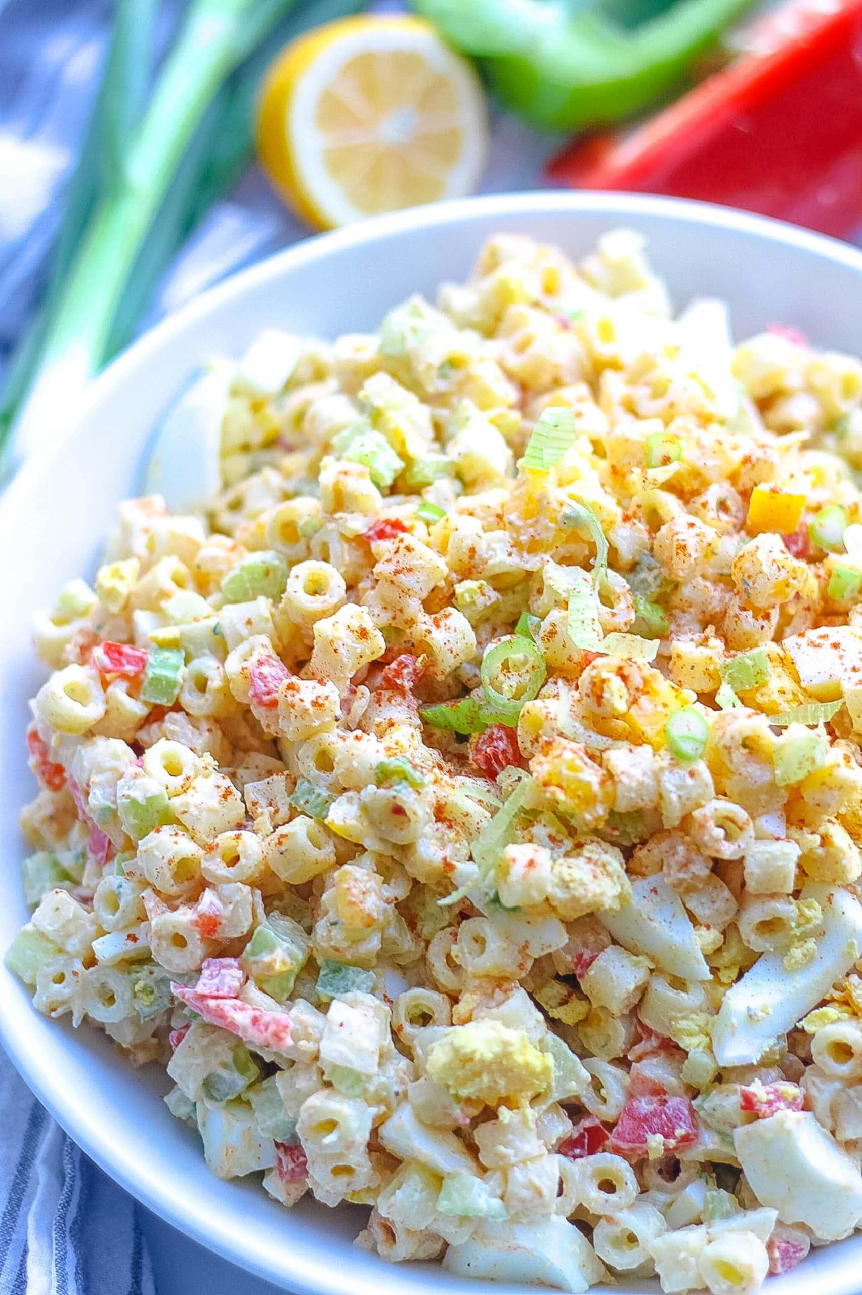 Macaroni Salad with hard boiled eggs