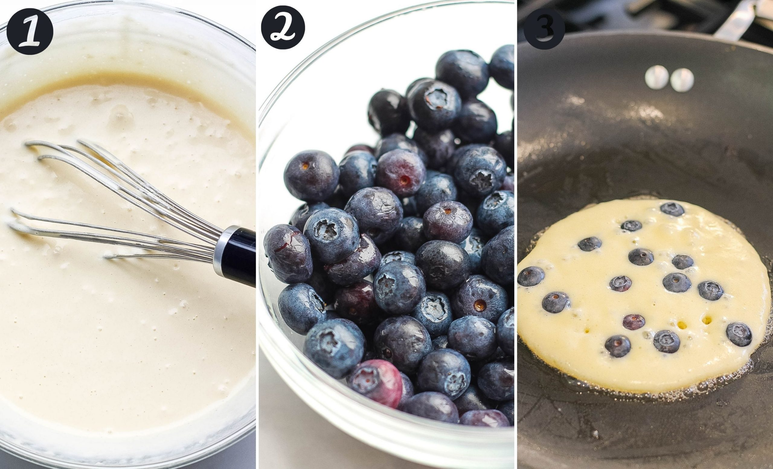 blueberry pancake steps