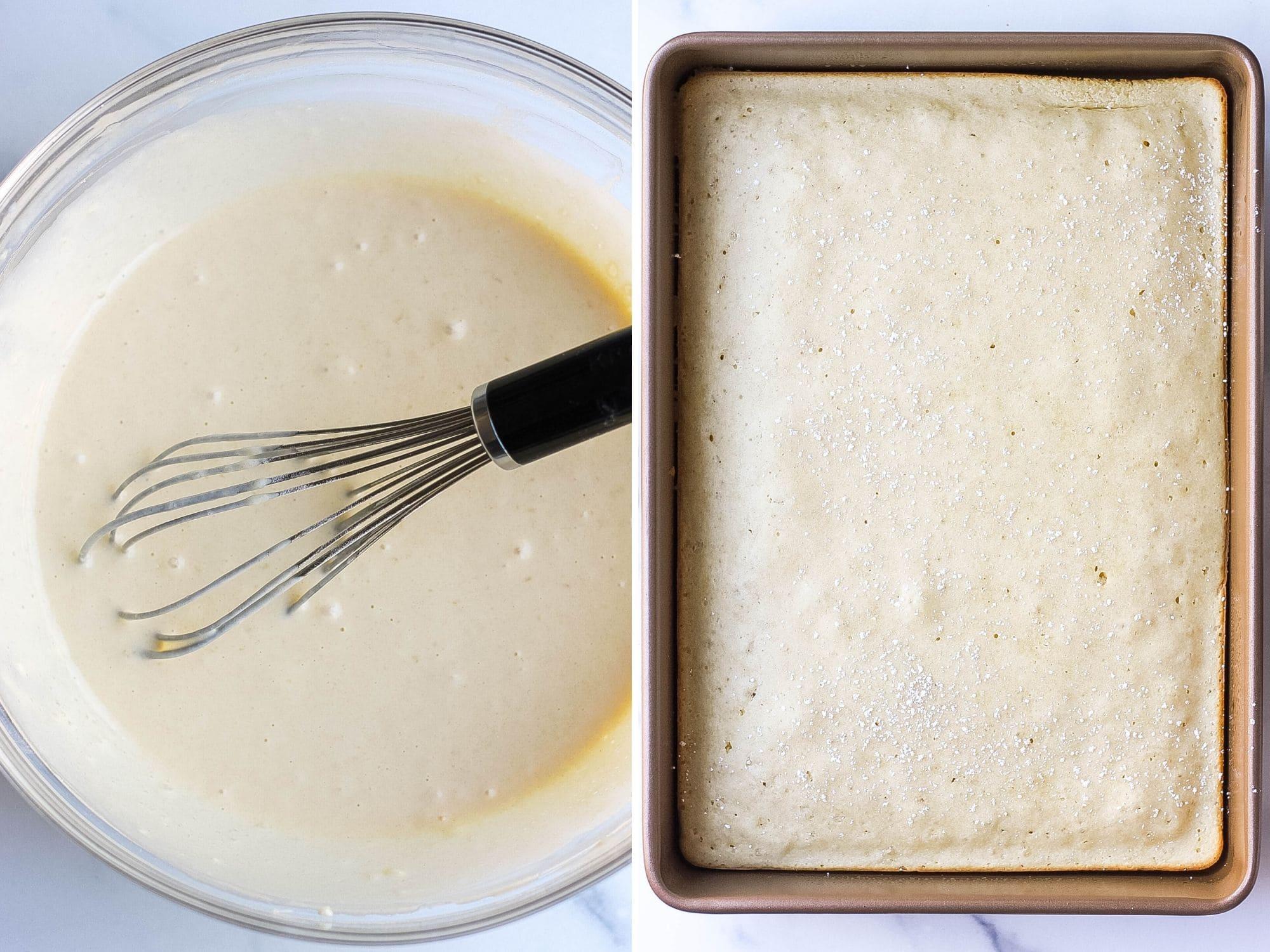 baked pancake batter