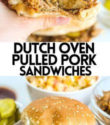 Dutch Oven Pulled Pork Sandwiches