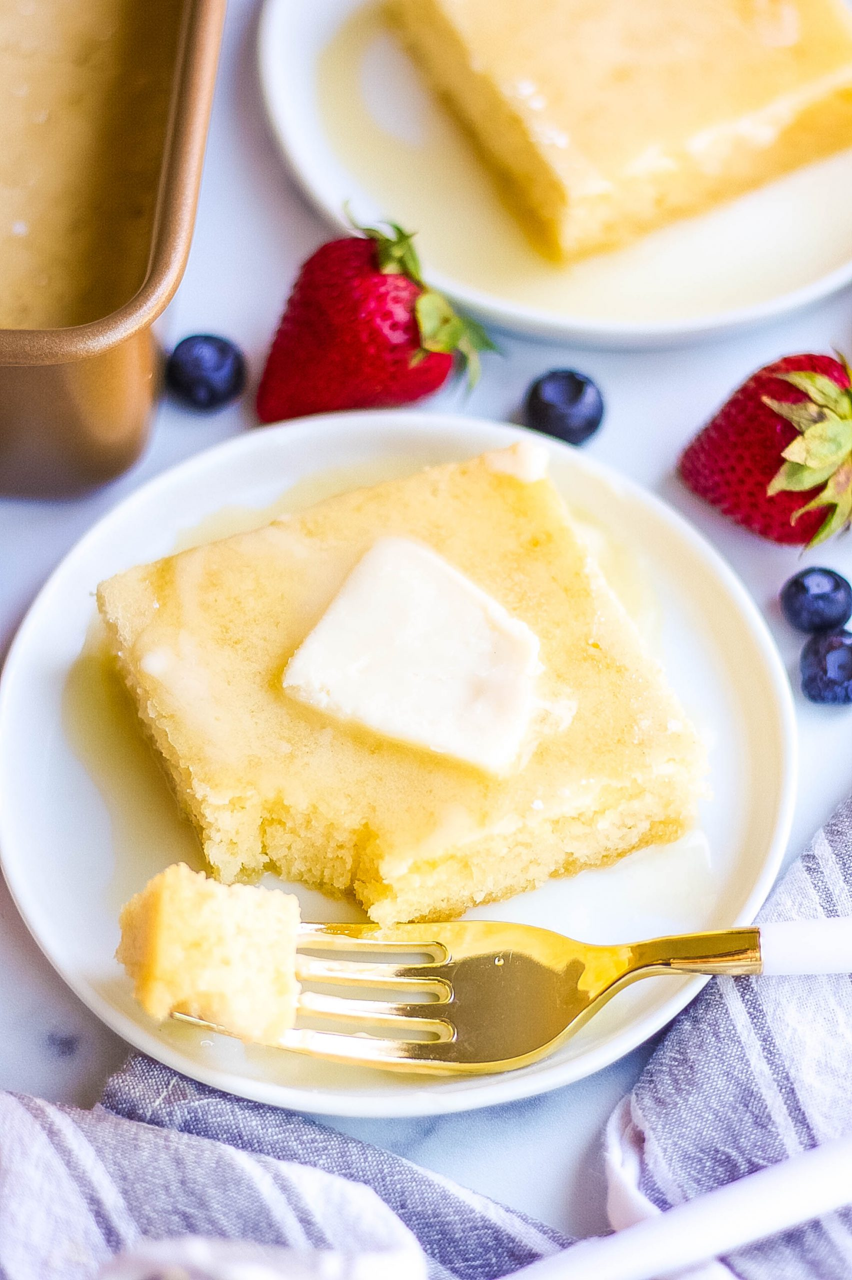 bite of baked pancakes