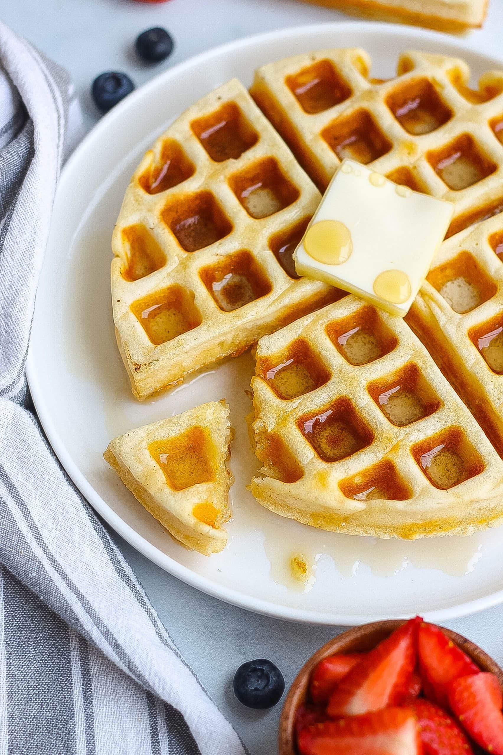 Homemade Waffles for breakfast or brunch