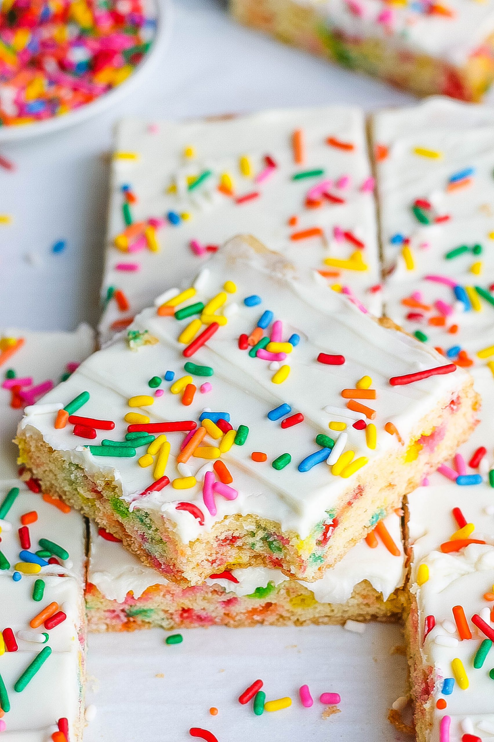Funfetti Cake Mix Cookie Bars