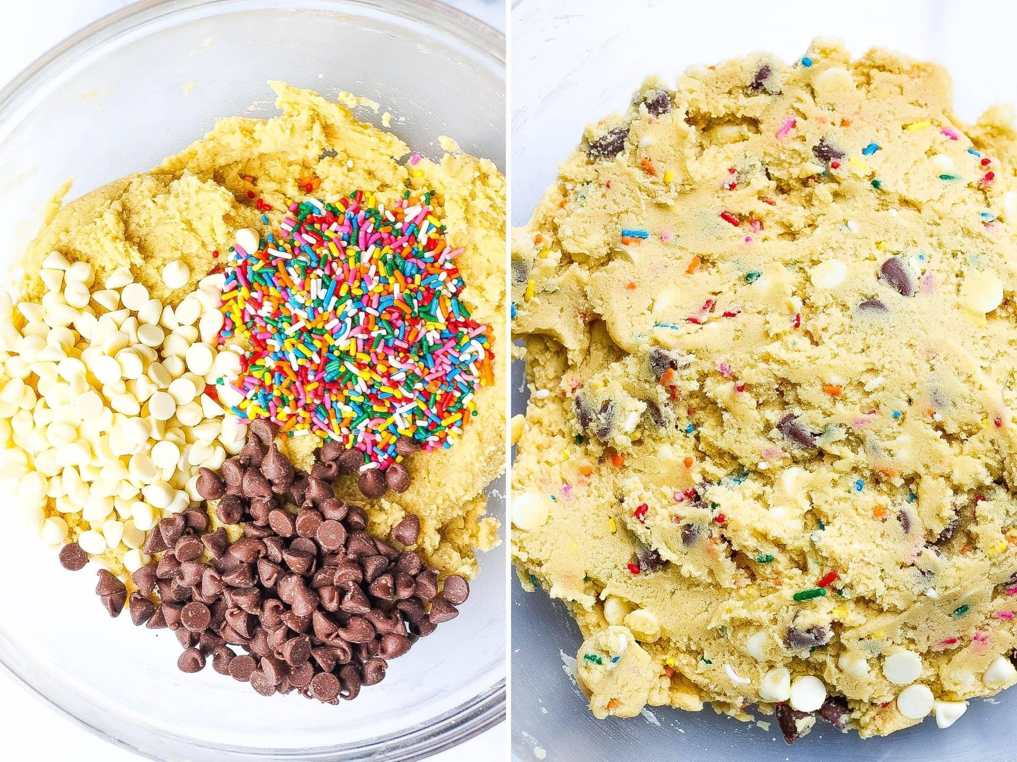 birthday cake cookie dough