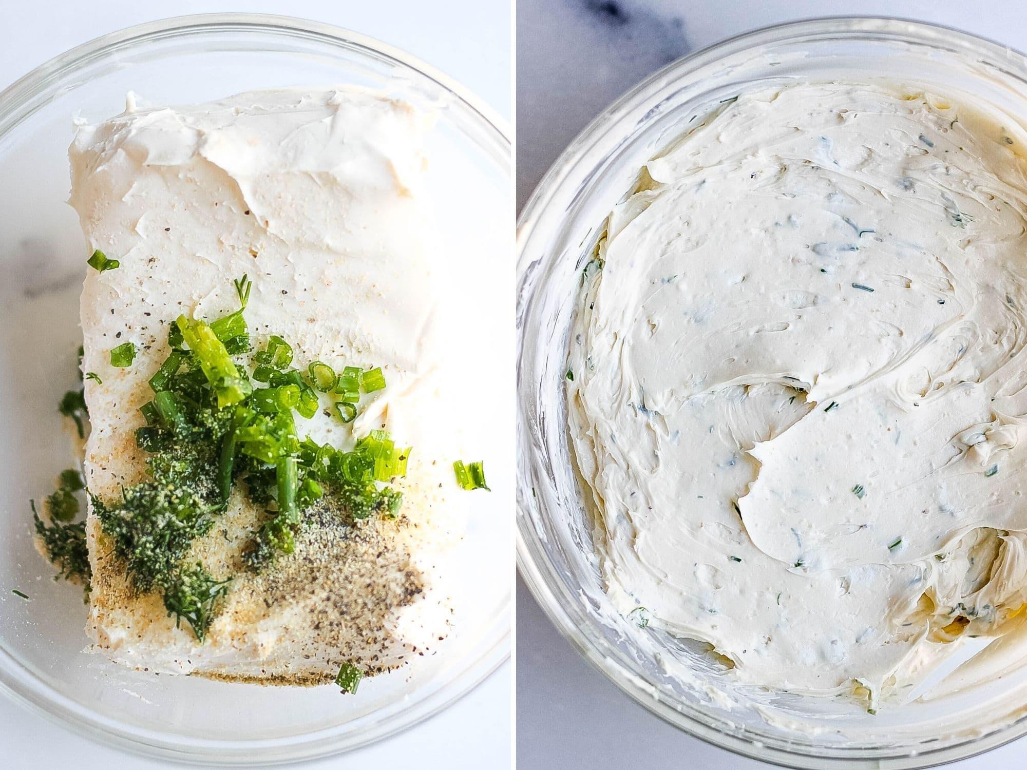 homemade herb cream cheese