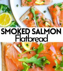 smoked salmon flatbread