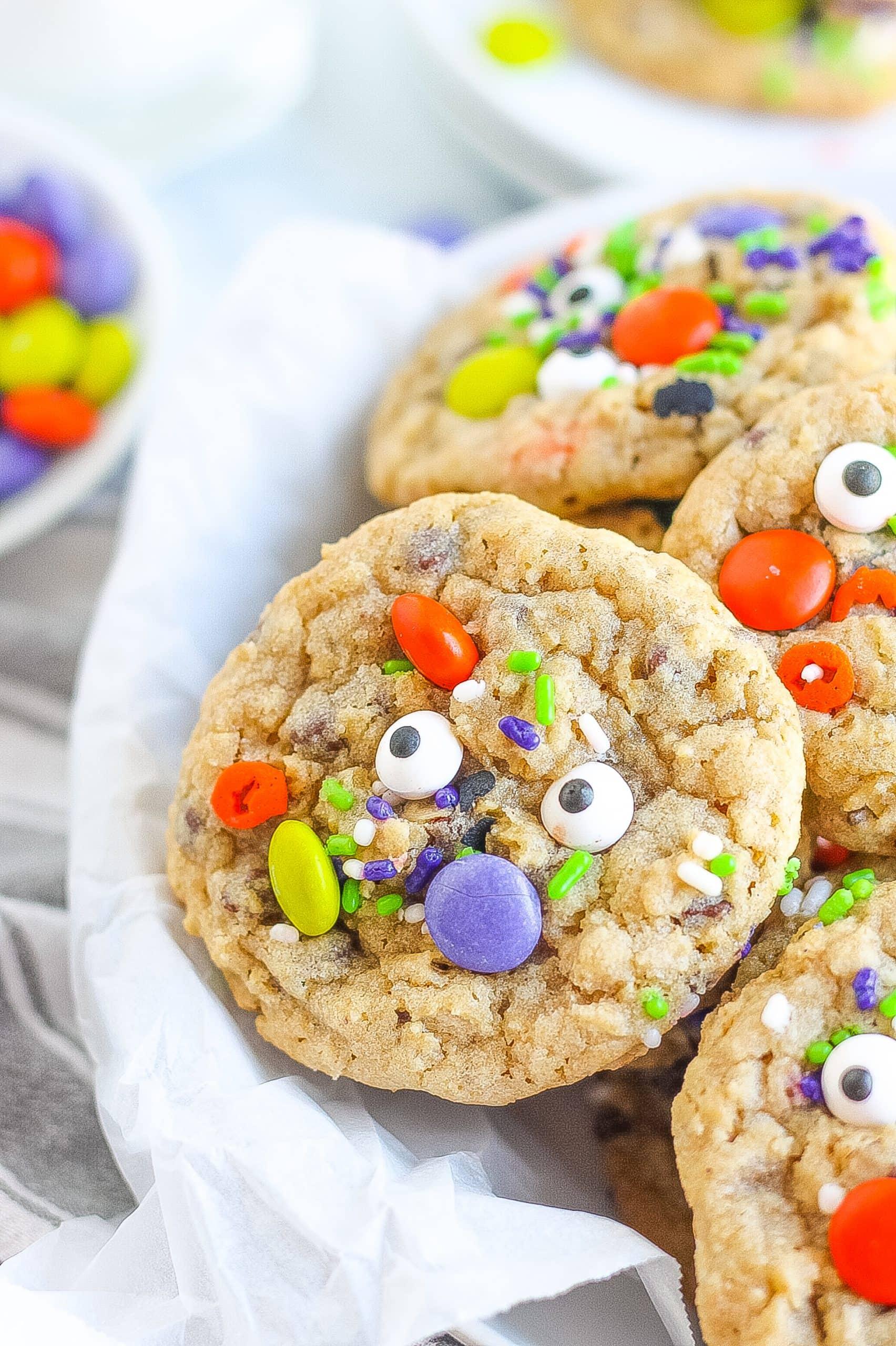 monster cookies with sprinkles