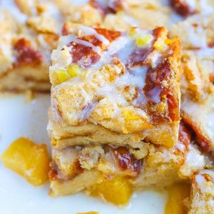 Spiced Pineapple Bread Pudding