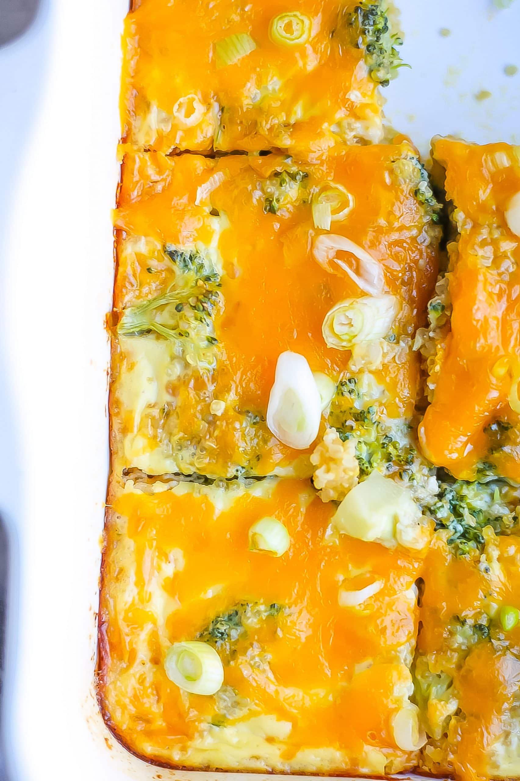 quinoa casserole with cheese
