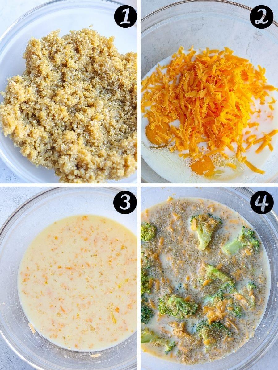 Broccoli Cheddar Quinoa Casserole steps